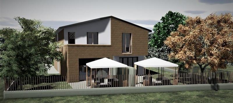 progetto casa bifamiliare