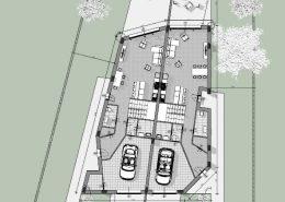 Casa bifamiliare | Pianta piano terra