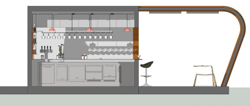 Progetto di un chiosco bar - Sezione B-B