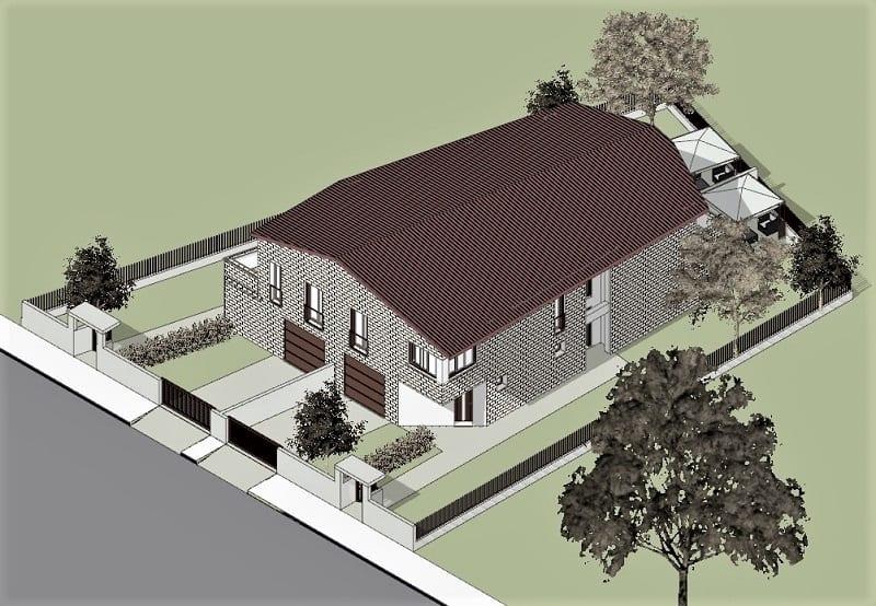 progetto casa bifamiliare o binata