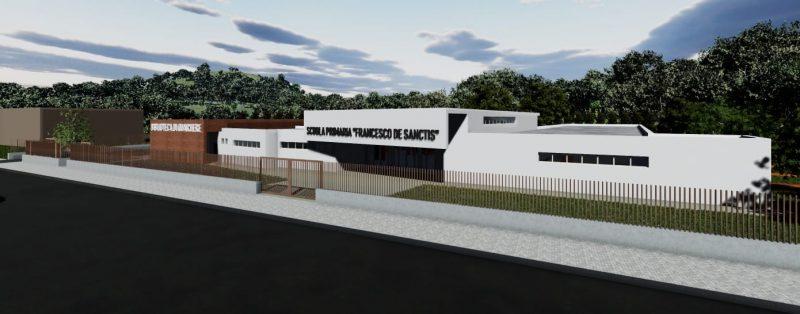 progettazione di una scuola _ ingresso principale