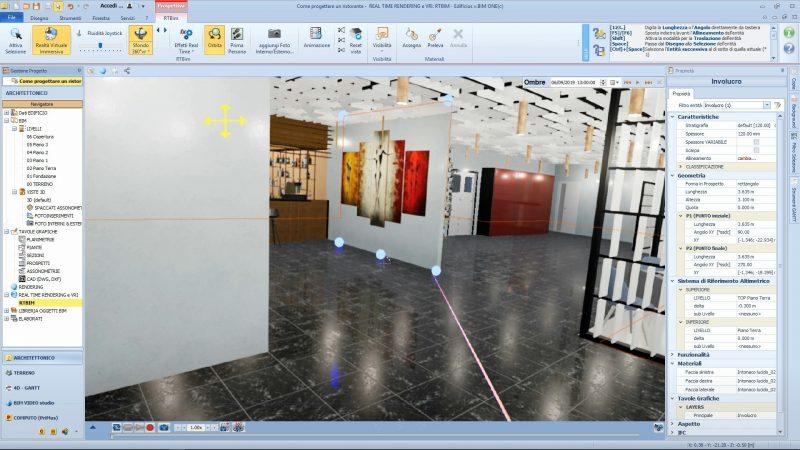 revisione e controllo del progetto con la realtà virtuale immersiva - modifica muro