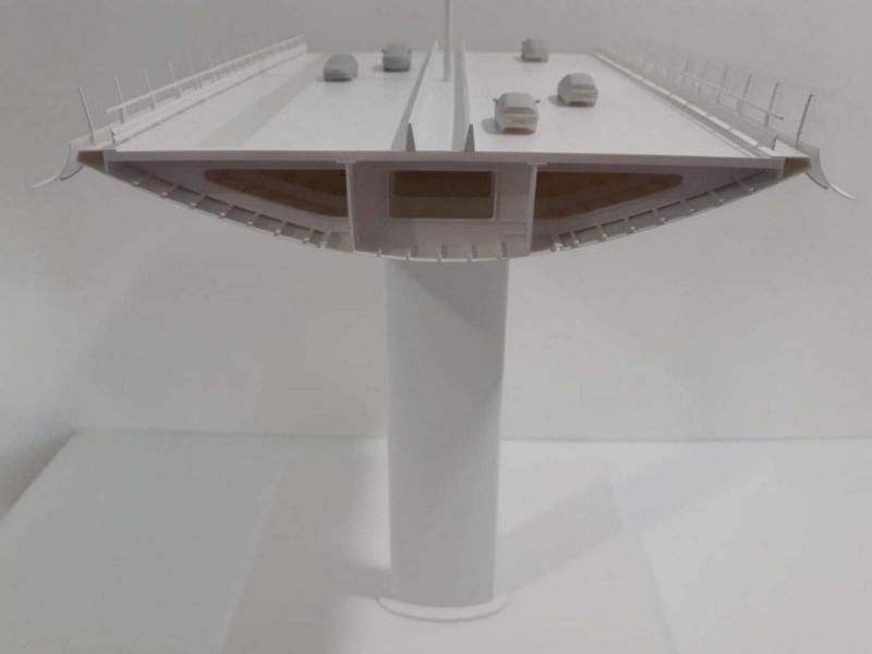 ponte sul polcevera - sezione del pilone