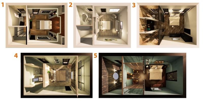 Camera da letto con bagno e cabina armadio-tipologie