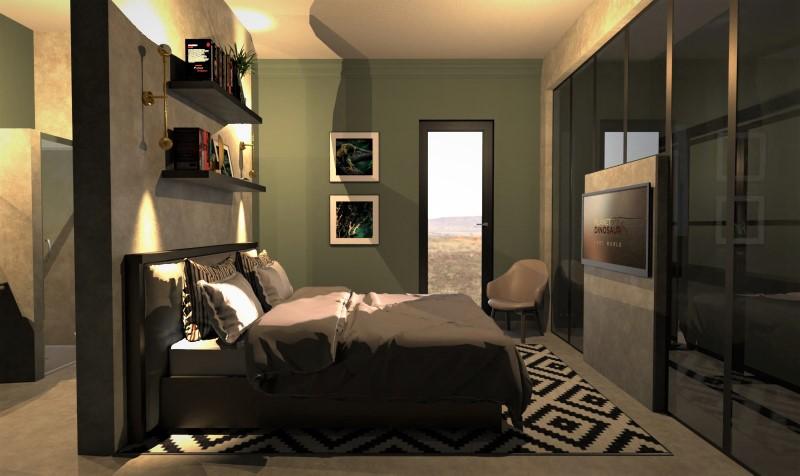 Camera da letto con bagno e cabina armadio-tipo 4