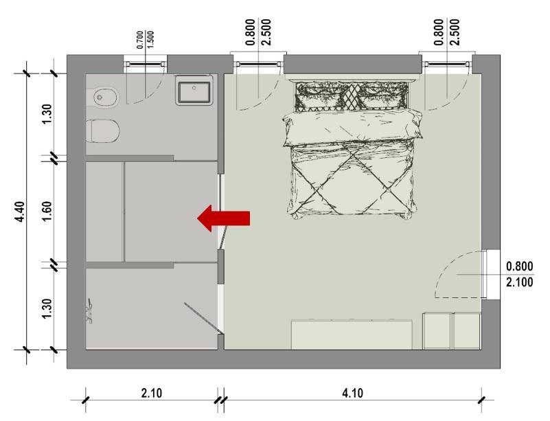 Camera da letto-Tipo 3
