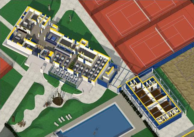 ristrutturazione di un centro sportivo modello BIM