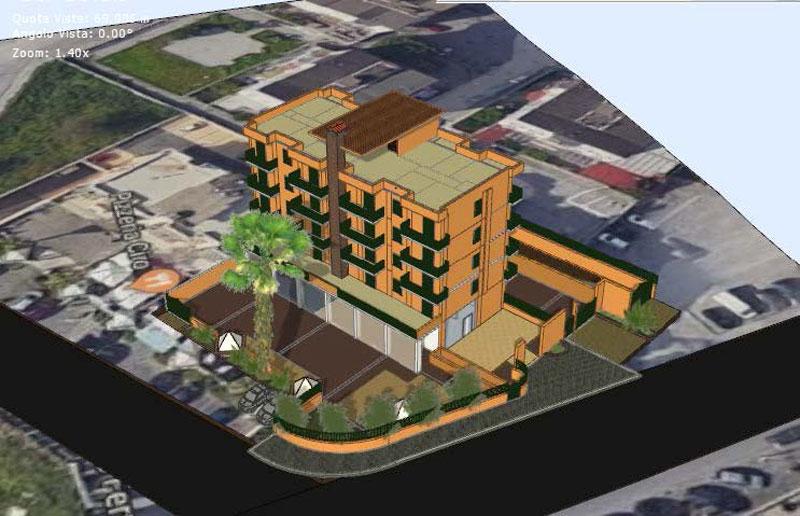 Modello BIM as built dell'edificio georeferenziato - analisi termica