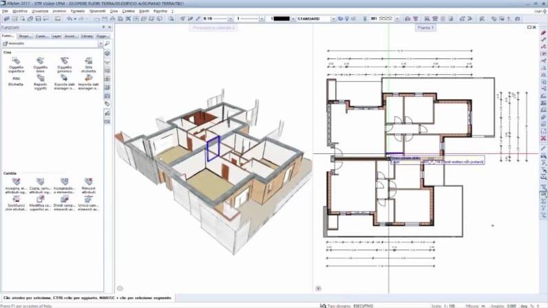 Immagine che mostra l'interfaccia di Allplan, il software BIM per l'architettura