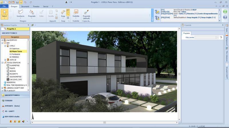 Immagine a colori che riporta il render di un edificio residenziale dopo l'incremento volumetrico