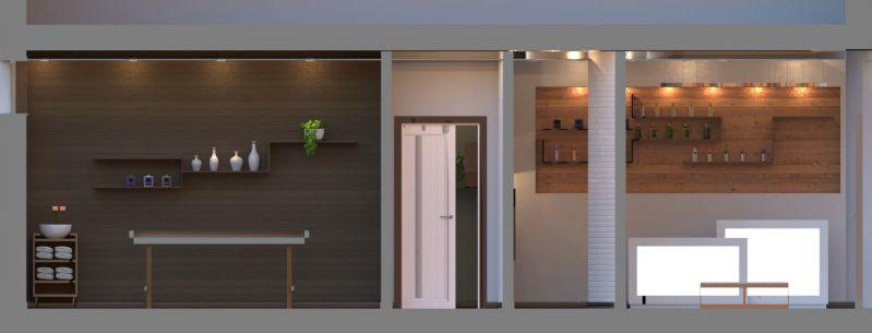 Immagine renderizzata che mostra la sezione del centro estetico. Tutto realizzato con Edificius.