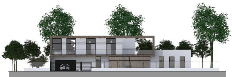Immagine a colori che mostra un esempio di progetto Piano casa con grafici di progetto realizzati con Edificius