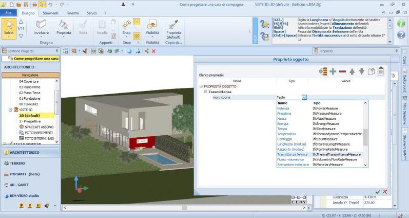 Immagine che descrive come aggiungere proprietà agli oggetti di Edificius BIM 2(j)