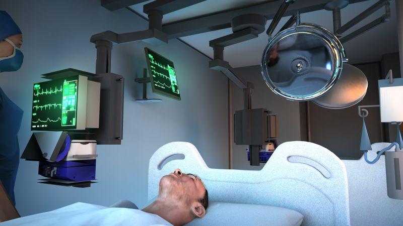 render che mette in evidenza gli strumenti che sono necessari per la progettazione di un ospedale mobile.