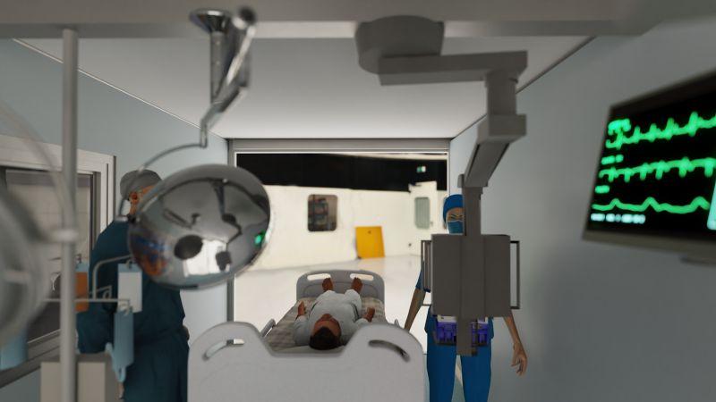 Immagine che mostra il modello degli ospedali da campo realizzati con Edificius