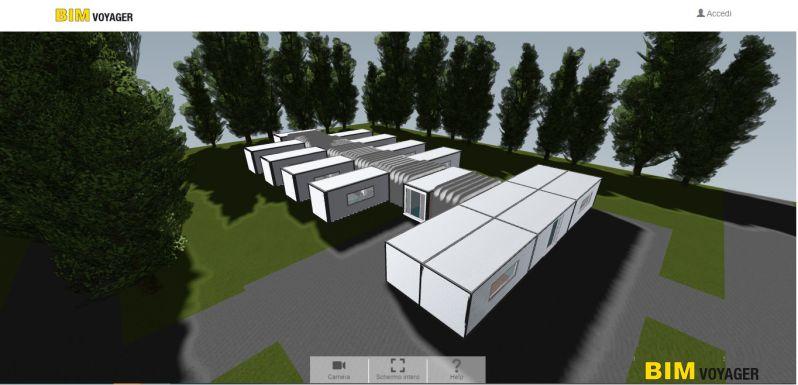 Navigarzione del modello degli ospedali da campo con BIM VOYAGER