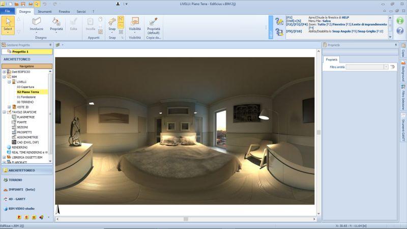 Progetto camera da letto con bagno e cabina armadio