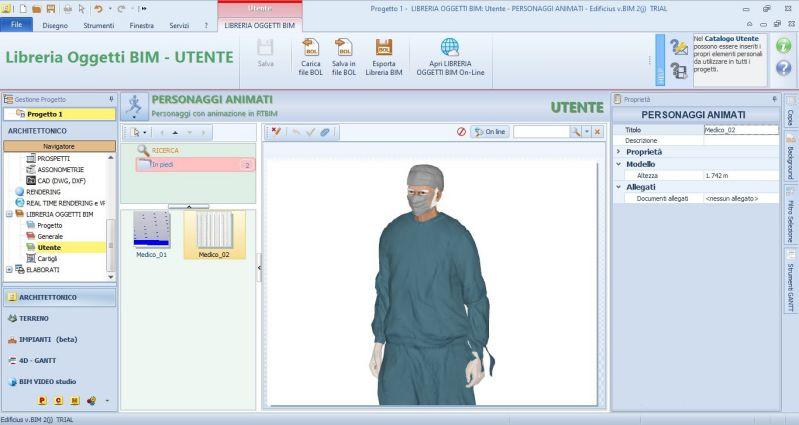 Immagine che mostra un personaggio animato da inserire in un modello 3D-medico