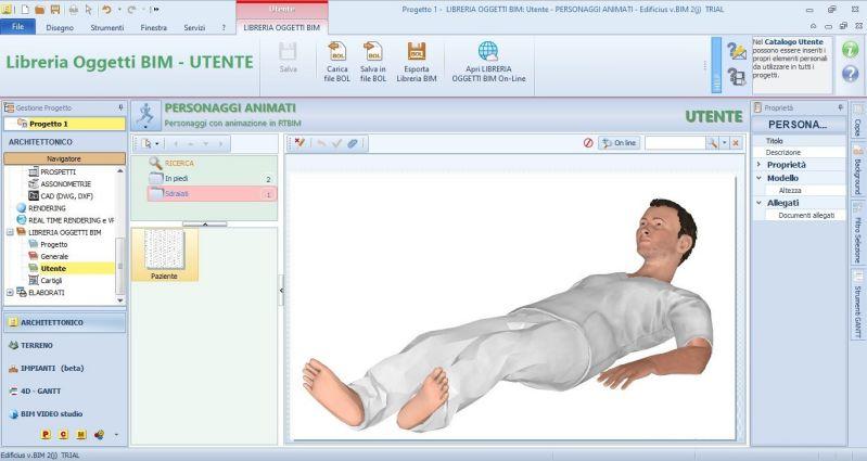 Immagine che mostra un personaggio animato da inserire in un modello 3D-paziente