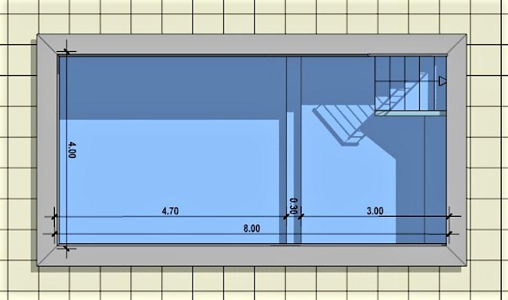 piscina riabilitativa - pianta
