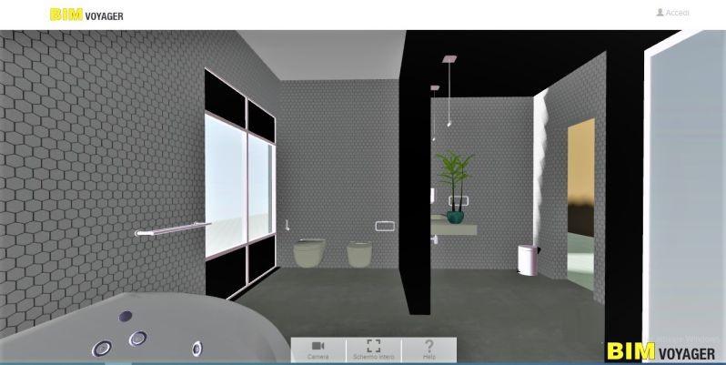 Immagine che mostra la navigazione di uno Showroom virtuale con BIM VOYAGER