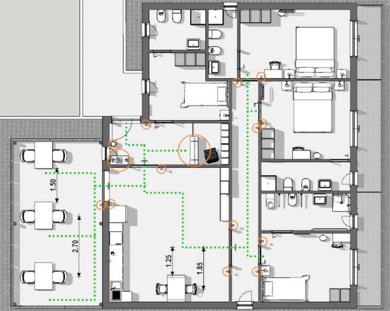 immagine che mostra il risultato delle scelte progettuali messe in pratica per la riapertura del bed and breakfast