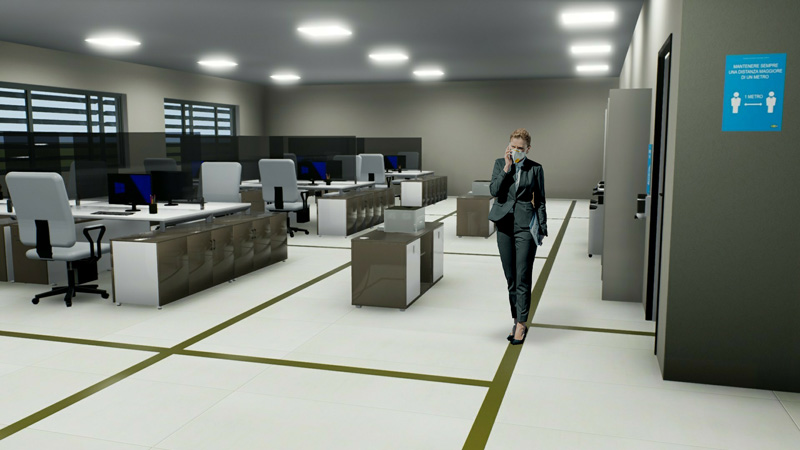 Riapertura attività fase 2-riorganizzazione open-space ufficio