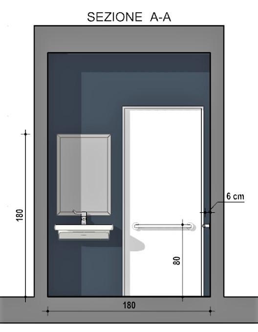 Progetto bagno disabili - sezione A:A