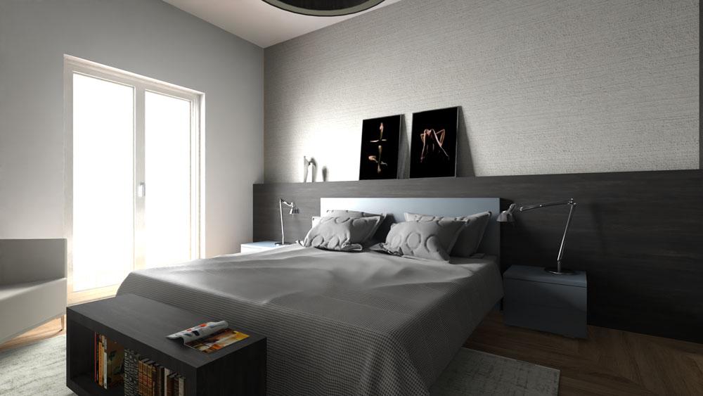 camera letto render edificius