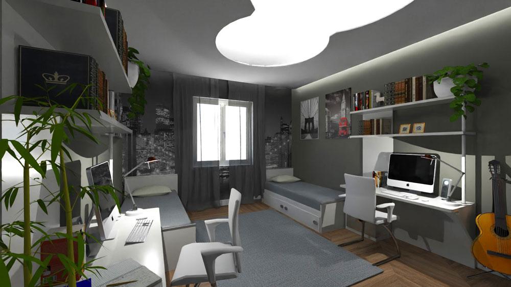 progetto ristrutturazione appartamento - camera-ragazzi