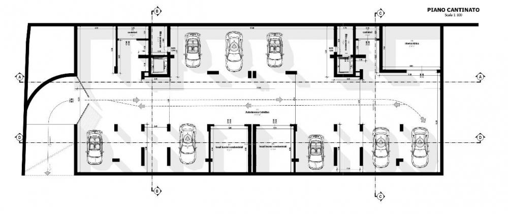 Pianta Piano Cantinato - realizzata con Edifcius
