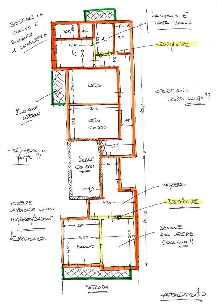 progetto-ristrutturazione-appartamento-schizzo