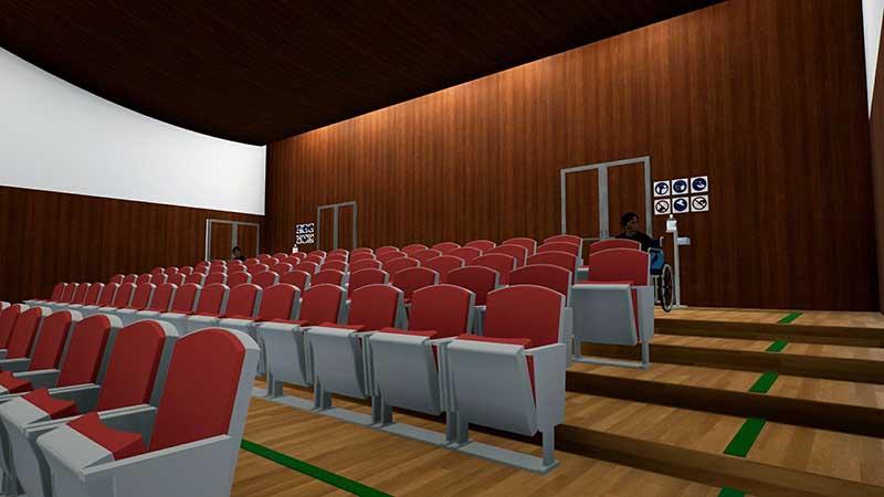 auditorium Vista della sala concerti