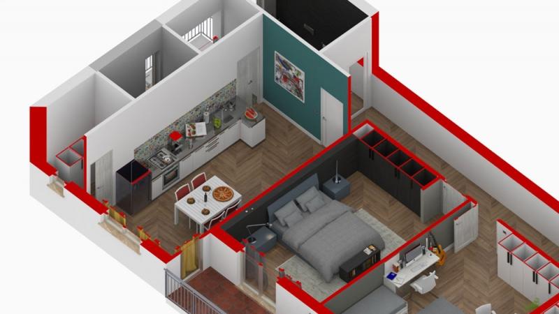 ristrutturazione appartamento - spaccato-cucina