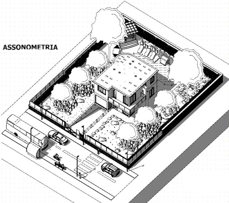 progettazione BIM - classe 4A - assonometria