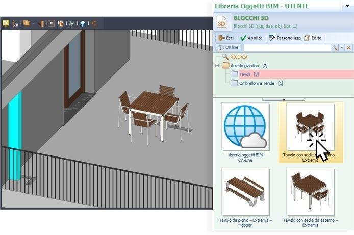 Immagine che mostra come inserire nuovi oggetti con un editor IFC
