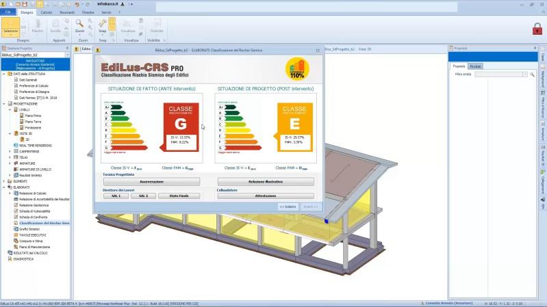 Classificazione rischio sismico - progetto Superbonus realizzato con EdiLus