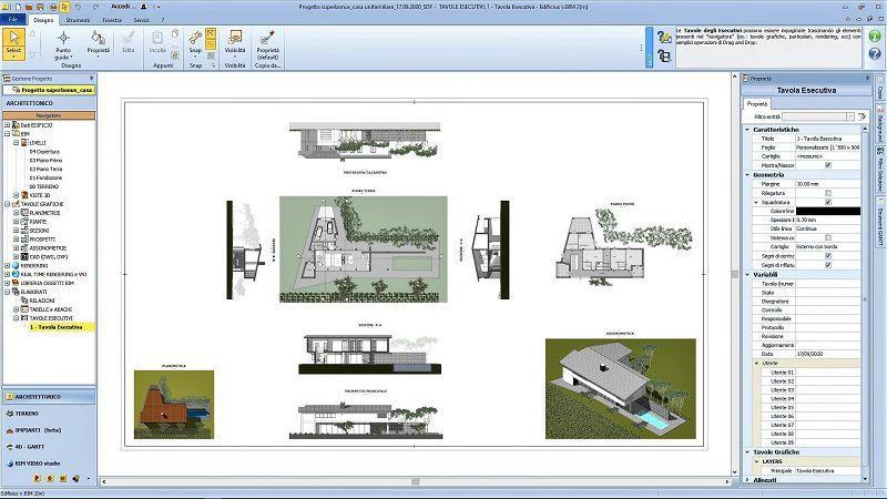 Superbonus 110: il modello 3D BIM di un edificio unifamiliare