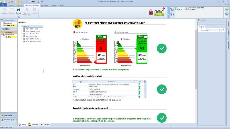 APE convenzionale - Miglioramento delle 2 classi energetiche con TerMus