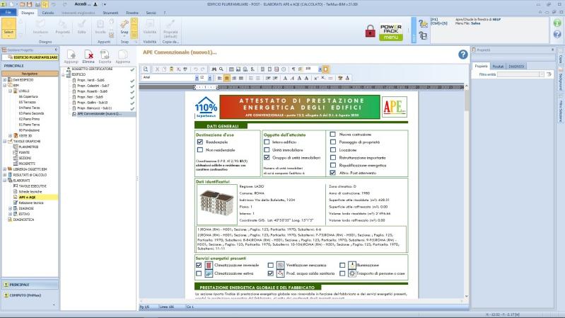 APE convenzionale post operam - stampa ottenuta con TerMus
