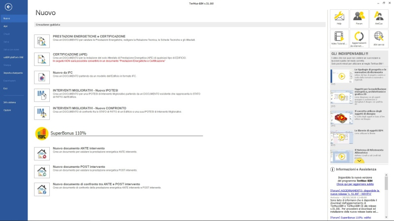 APE convenzionale - TerMus aggiornato alla versione Superbonus