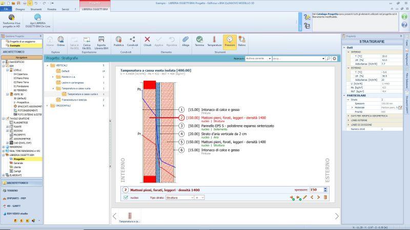 Edificius BIM 3 - stratigrafie