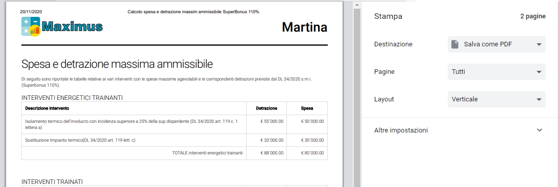 Stampa Maximus   ACCA software