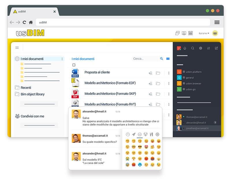 usBIM.chat - interfaccia