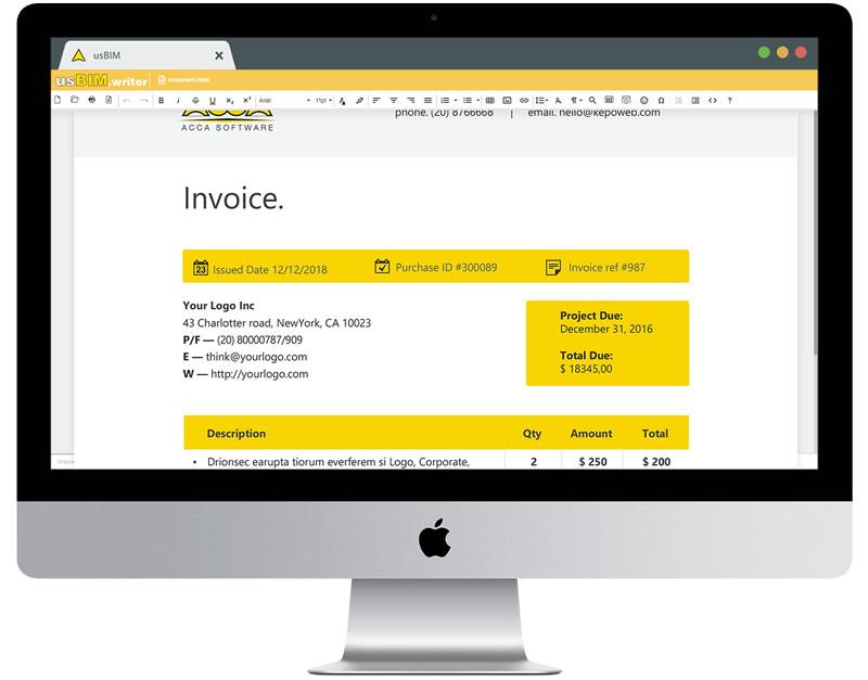 usBIM.writer - app gratuite per la gestione dei progetti di costruzione