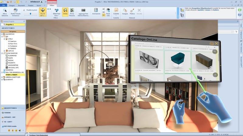 realtà virtuale e interior design con Edificius