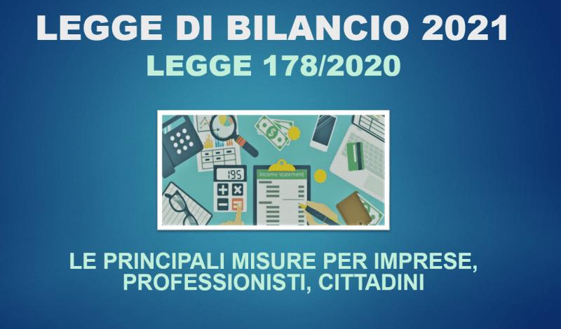 Slice legge per il bilancio 2021