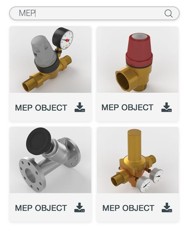 Libreria oggetti MEP