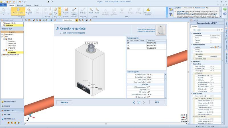 Modellazione impianto   Creazione nuovo elemento MEP