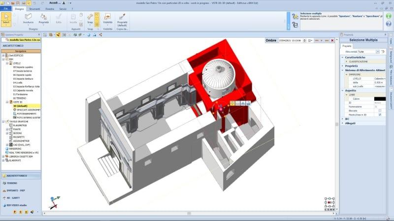 I vantaggi del BIM nella conservazione di un edificio storico: modellazione abside con Edificius